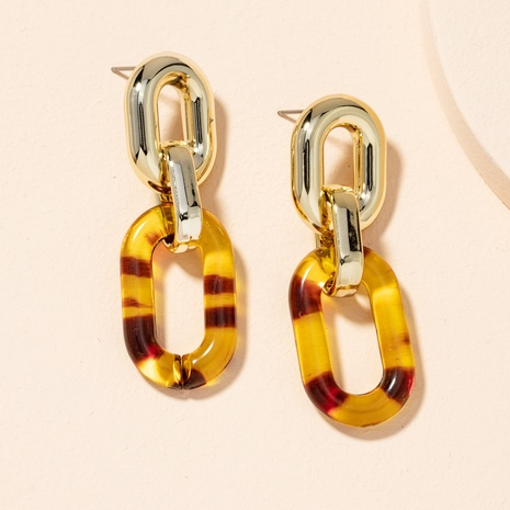 retro chain earrings  NHAI301592's discount tags