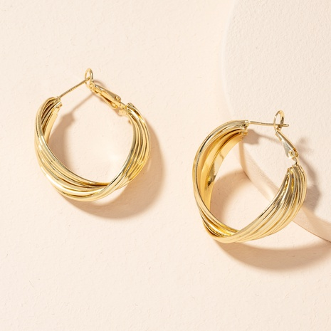 fashion C-shaped twisted earrings NHAI301593's discount tags