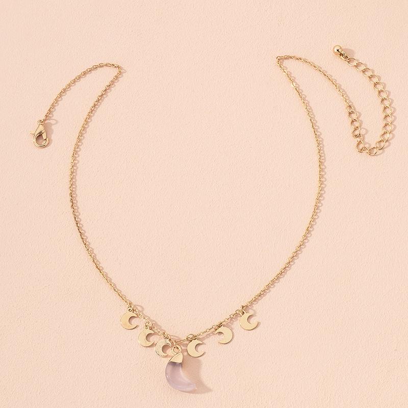 fashion moon pendant necklace  NHAI301594
