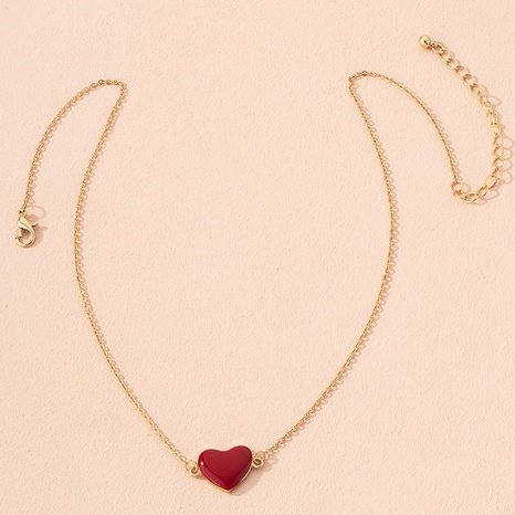 fashion alloy red heart necklace  NHAI301595's discount tags