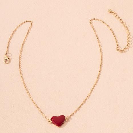 Mode-Legierung rotes Herz Halskette NHAI301595's discount tags