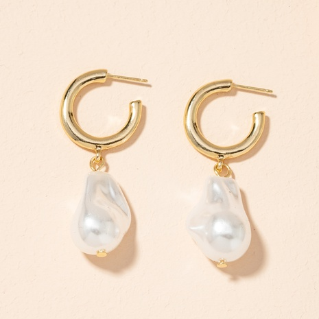 fashionable baroque pearl earrings NHAI301600's discount tags