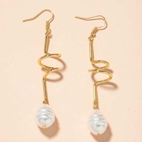 irregular pearl long earrings  NHAI301604's discount tags