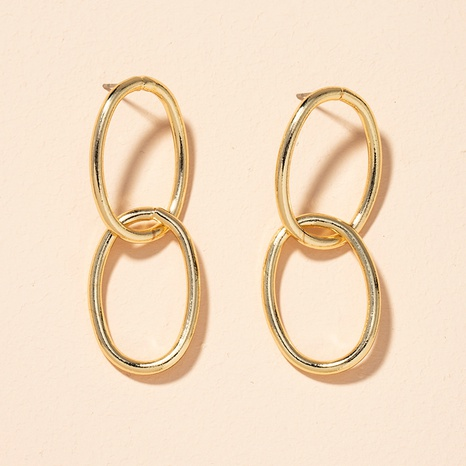 Korea simple retro fashion geometric circle earrings  NHAI301607's discount tags