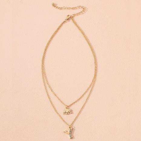 simple diamond letter pendant necklace  NHAI301611's discount tags