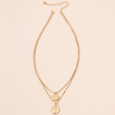 fashion gold coin portrait pendant necklace NHAI301614's discount tags