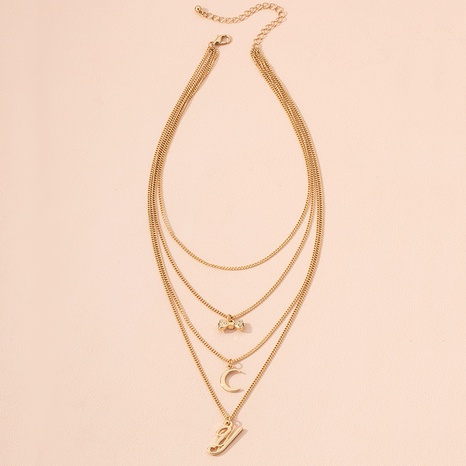 multi-layer letter pendant necklace  NHAI301616's discount tags