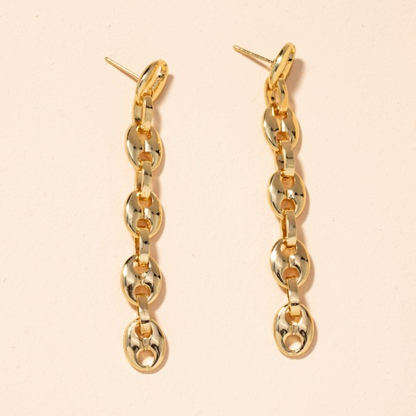 new exaggerated retro long chain earrings  NHAI301619's discount tags