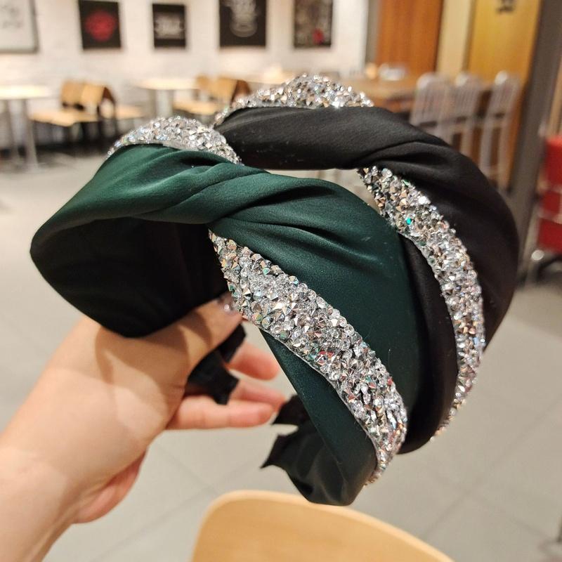 Korean diamond-wrapped simple pure hairband NHUX301640
