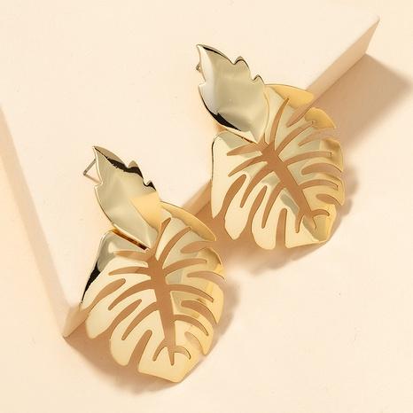 fashion metal leaf earrings  NHGU301652's discount tags