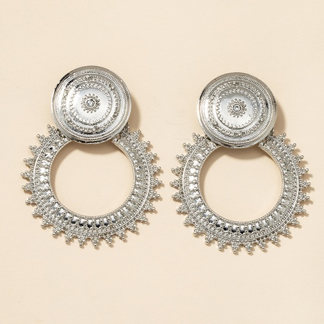 metal round earrings  NHGU301656's discount tags