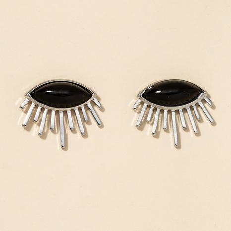 Legierung Auge schwarze Ohrringe NHGU301657's discount tags