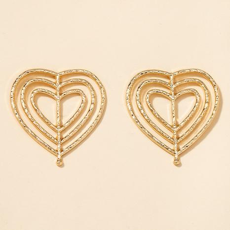 metal heart earrings  NHGU301661's discount tags