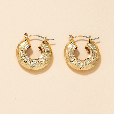 popular metal round earrings  NHGU301667's discount tags