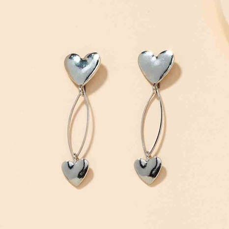 metal heart earrings  NHGU301669's discount tags