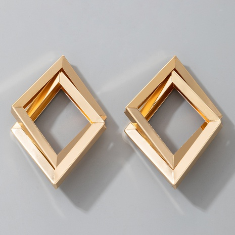 new fashion double-layer geometric metal earrings NHGY301732's discount tags