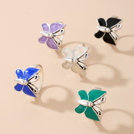 different color butterfly rings 5-piece set NHGY301731's discount tags
