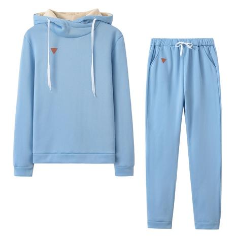 nouveau costume de sport de loisirs en deux pièces simple pull polaire NHIS301690's discount tags