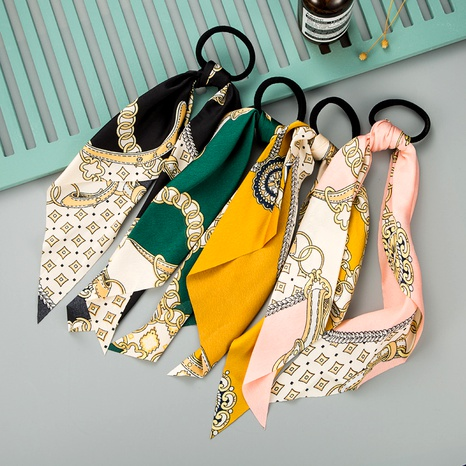 fashion colorful pattern fabric ribbon hair rope NHLN290529's discount tags
