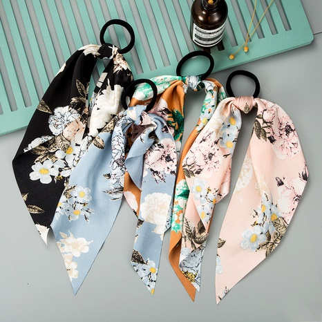 fashion colorful pattern fabric ribbon hair rope NHLN290530's discount tags
