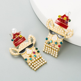 Christmas cartoon characters earrings NHLN290536