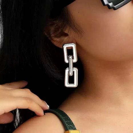 long metal pendant earrings  NHLN290547's discount tags