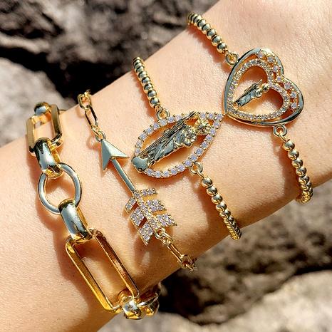 micro-inlaid zircon arrow bracelet  NHAS290569's discount tags