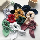 retro satin bow hair scrunchies NHOF290580