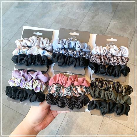 simple silk satin hair scrunchies NHOF290581's discount tags