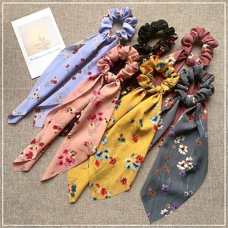 simulation silk ribbon floral hair scrunchies NHOF290582's discount tags