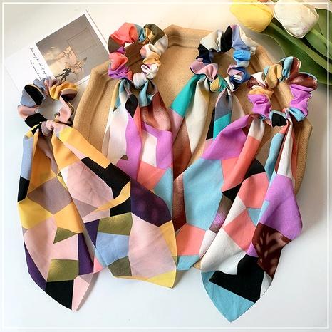 colorful silk hair scrunchies NHOF290588's discount tags