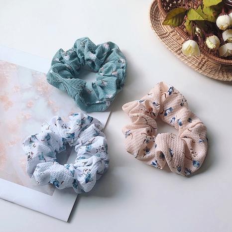 retro floral fabric hair scrunchies NHOF290590's discount tags