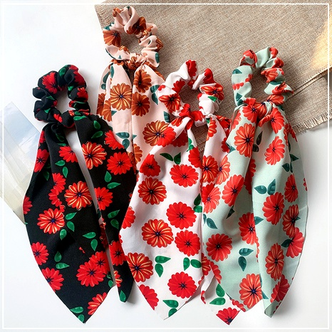 sweet floral fabric hair scrunchies NHOF290592's discount tags