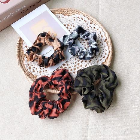 Leopard print retro hair scrunchies NHOF290594's discount tags