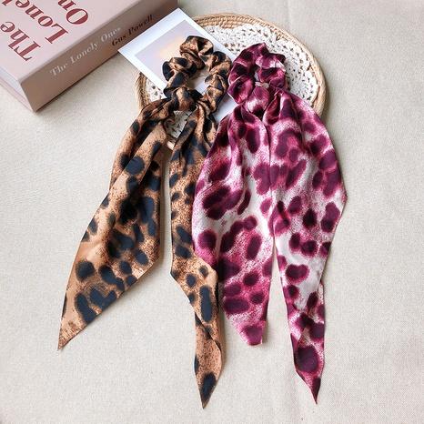 retro leopard print satin hair scrunchies NHOF290596's discount tags