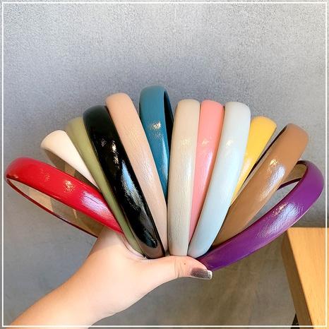 simple solid color retro headband NHOF290601's discount tags