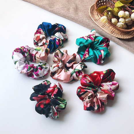 chouchous à fleurs en tissu NHOF290603's discount tags