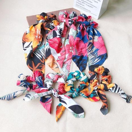retro floral ribbon hair scrunchies NHOF290605's discount tags