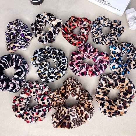 Leopard print hair scrunchies NHOF290607's discount tags