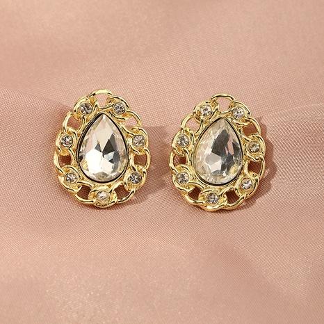Pendientes de oro retro de moda NHNZ290620's discount tags