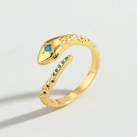 Zircon Diamond Snake Adjustable Ring  NHGO290629's discount tags