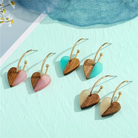 simple fashion wood earrings  NHGO290640's discount tags