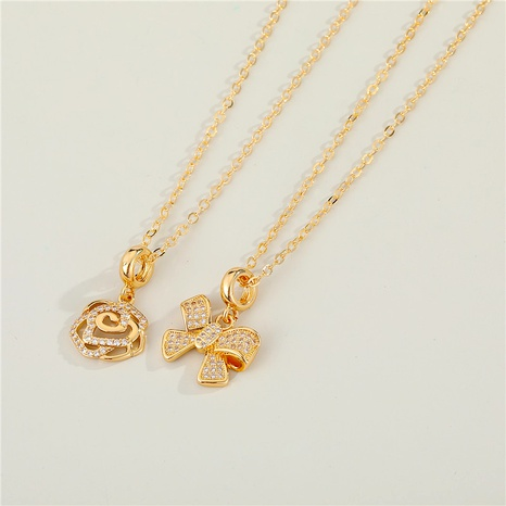 diamond alloy butterfly necklace NHGO290648's discount tags