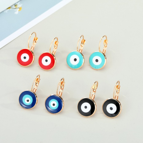 simple devil eye edging resin earrings NHGO290665's discount tags
