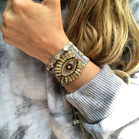 fashion Turkey evil eye Miyuki rice bead bracelet  NHGW290712's discount tags