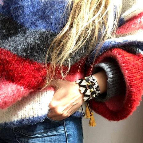 simple tassel ethnic love bracelet set  NHGW290715's discount tags