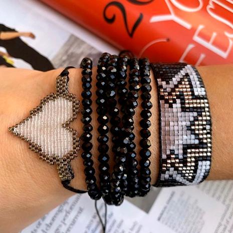 Miyuki rice bead woven handmade beaded love bracelet NHGW290729's discount tags