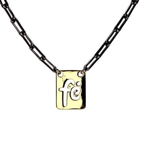 collar corto de hip-hop con letras cruzadas NHPY290738's discount tags