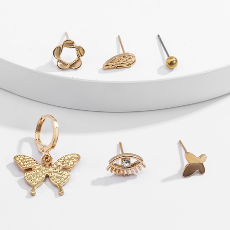 simple small butterfly earrings set  NHXR290752's discount tags