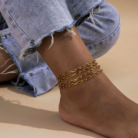 fashion  chain retro style anklet  NHXR290754's discount tags